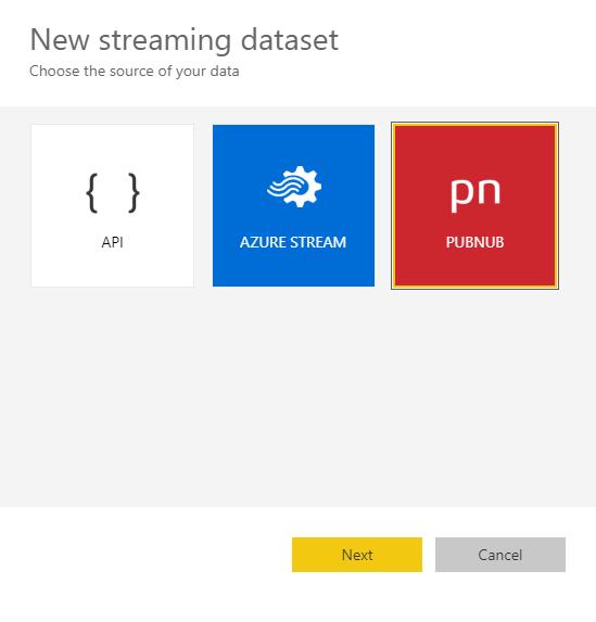 Streaming dataset